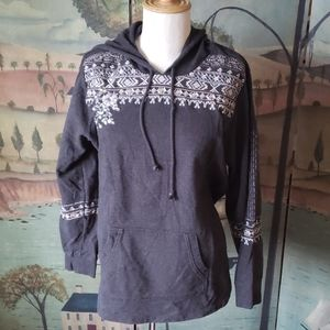 Style & Co. Embroidered Hoodie L